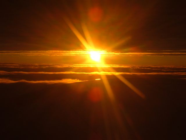 Sun Set above clouds